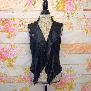 INC Faux Leather Moto Vest